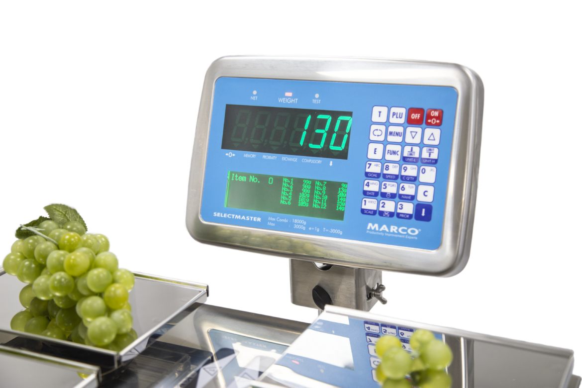 grape weighing scale BWS Belt weighing system