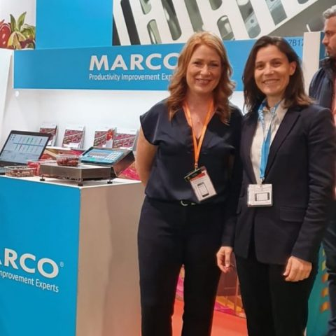 Jupiter Group joint MD, Yvonne Tweddle and MARCO SVP of Sales & Marketing, Mariette Hilborne at Fruit Attraction 2019
