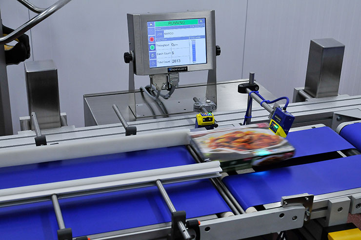 label control conveyor ready meal