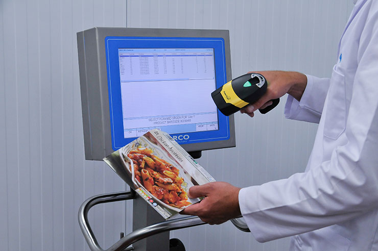 label control bar code scanning ready meal